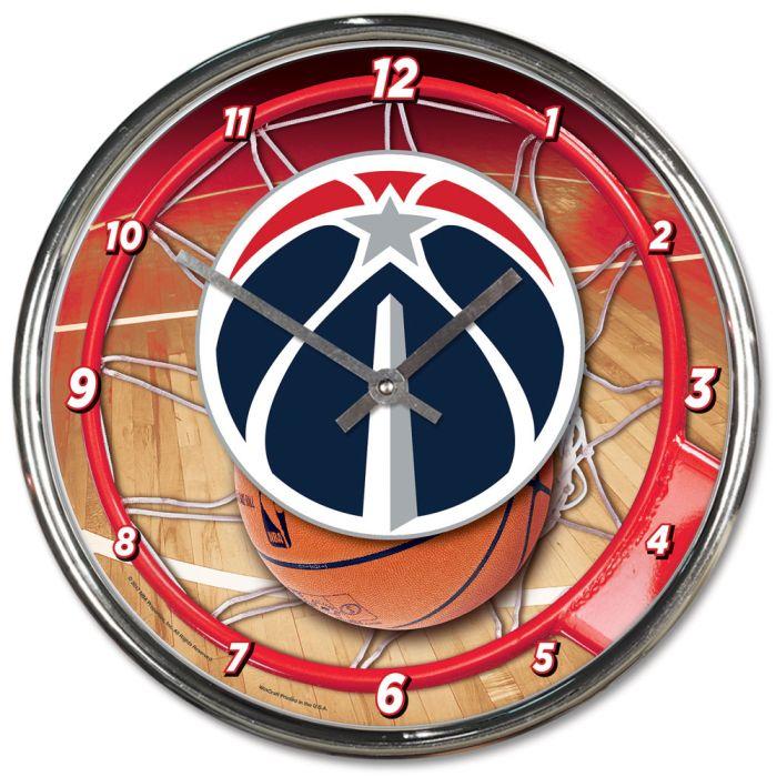 USA Soccer Team Chrome Clock