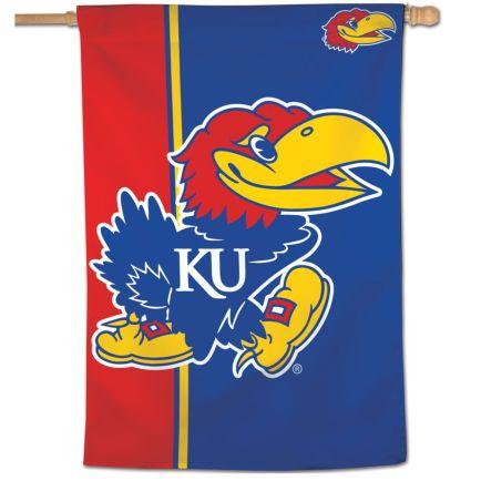 "Kansas Jayhawks Vertical Flag 28"" x 40"""