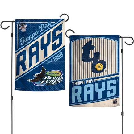"""Tampa Bay Rays / Cooperstown Garden Flags 2 sided 12.5"""" x 18"""""""