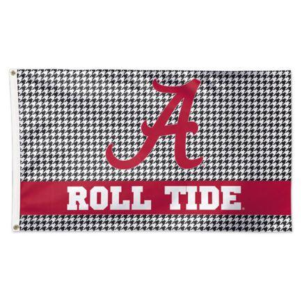 Alabama Crimson Tide /Houndstooth Flag - Deluxe 3' X 5'