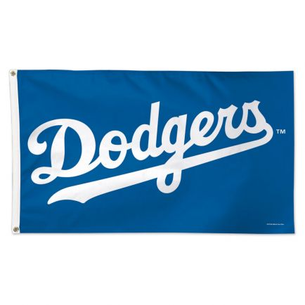 Los Angeles Dodgers Wordmark Flag - Deluxe 3' X 5'