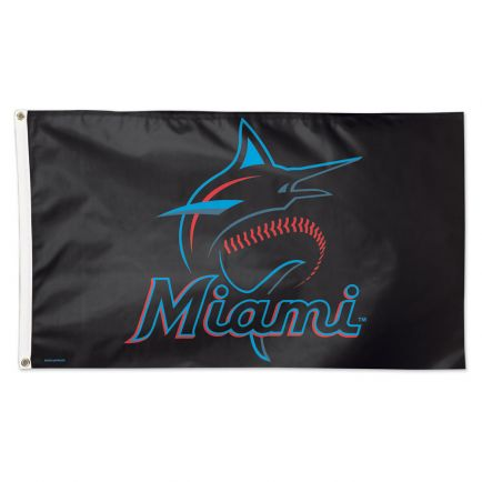 Miami Marlins Flag - Deluxe 3' X 5'