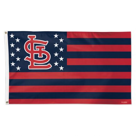 St. Louis Cardinals / Patriotic Flag - Deluxe 3' X 5'