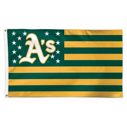 Oakland A's / Patriotic Flag - Deluxe 3' X 5'
