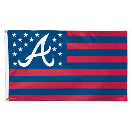 Atlanta Braves / Patriotic Flag - Deluxe 3' X 5'