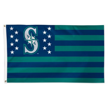 Seattle Mariners / Patriotic Flag - Deluxe 3' X 5'