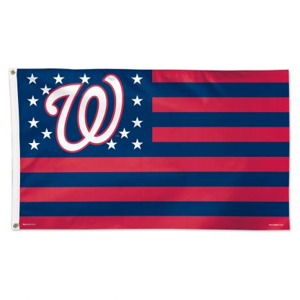 Washington Nationals / Patriotic Flag - Deluxe 3' X 5'