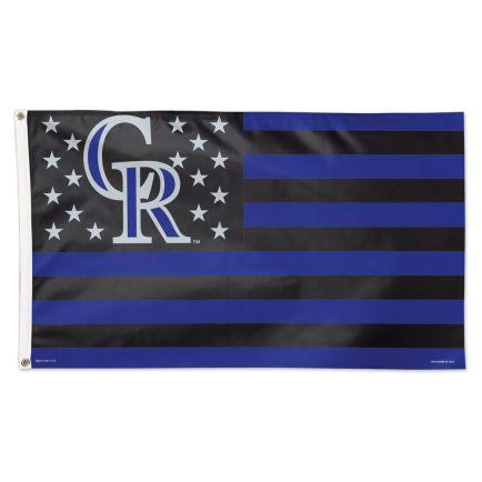 Colorado Rockies / Patriotic Flag - Deluxe 3' X 5'