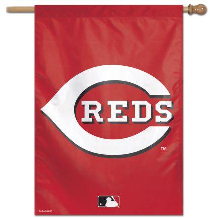 "Cincinnati Reds Logo Vertical Flag 28"" x 40"""