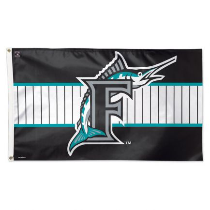 Miami Marlins / Cooperstown Flag - Deluxe 3' X 5'