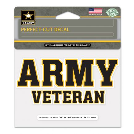 """U.S. Army Perfect Cut Color Decal 4.5"""" x 5.75"""""""