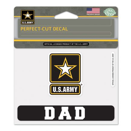 """U.S. Army """"Dad"""" Perfect Cut Color Decal 4.5"""" x 5.75"""""""