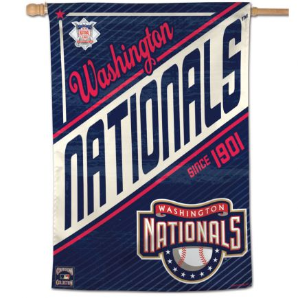 "Washington Nationals / Cooperstown cooperstown Vertical Flag 28"" x 40"""