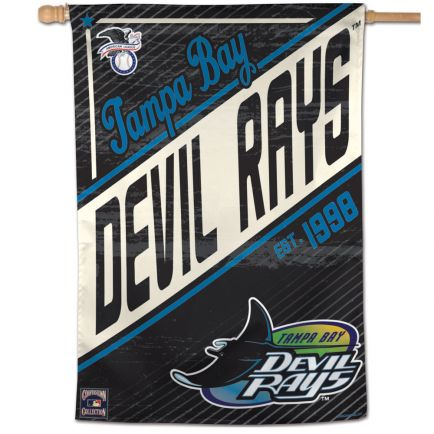 """Tampa Bay Rays / Cooperstown Cooperstown Vertical Flag 28"""" x 40"""""""