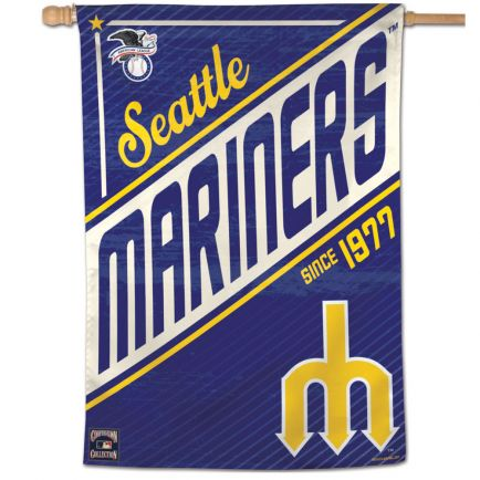 "Seattle Mariners / Cooperstown Cooperstown Vertical Flag 28"" x 40"""