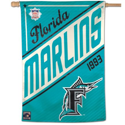 "Miami Marlins / Cooperstown Cooperstown Vertical Flag 28"" x 40"""