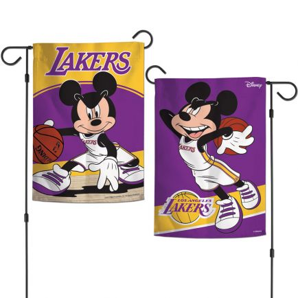 "Los Angeles Lakers / Disney Garden Flags 2 sided 12.5"" x 18"""