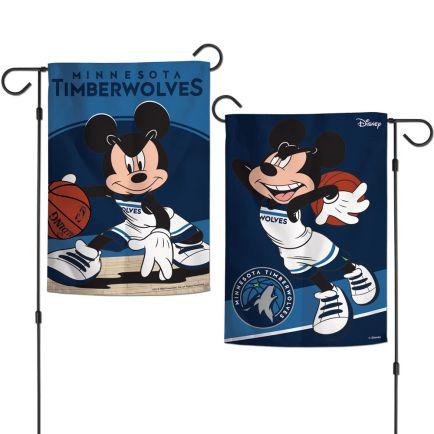 """Minnesota Timberwolves / Disney Garden Flags 2 sided 12.5"""" x 18"""""""