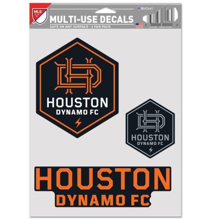 """Houston Dynamo Multi Use - 3 Fan Pack 5.5"""" x 7.75"""""""