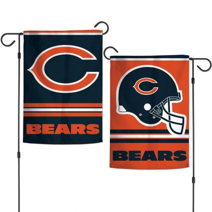 """Chicago Bears Garden Flags 2 sided 12.5"""" x 18"""""""