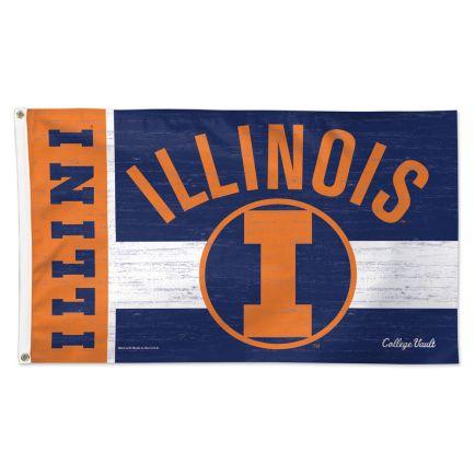Illinois Fighting Illini /College Vault Vault Flag - Deluxe 3' X 5'