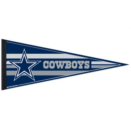 "Dallas Cowboys Mesh Bkg Classic Pennant, carded 12"" x 30"""