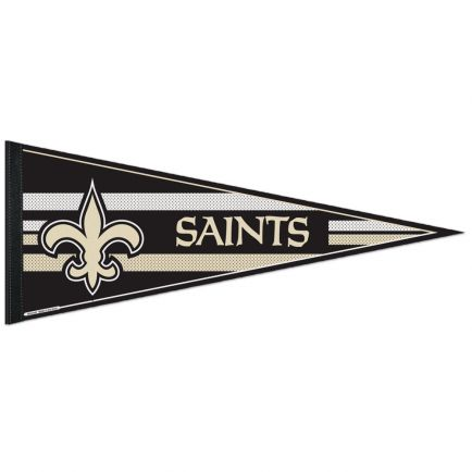 """New Orleans Saints Mesh Bkg Classic Pennant, carded 12"""" x 30"""""""