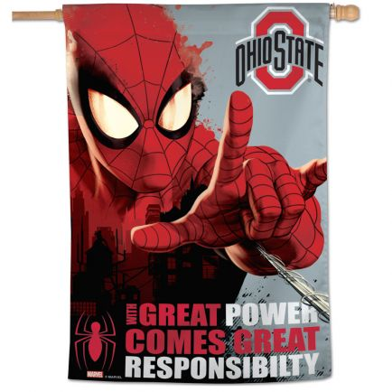 "Ohio State Buckeyes / Marvel (c) 2021 MARVEL Vertical Flag 28"" x 40"""