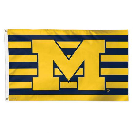 Michigan Wolverines / Stars and Stripes NCAA Flag - Deluxe 3' X 5'