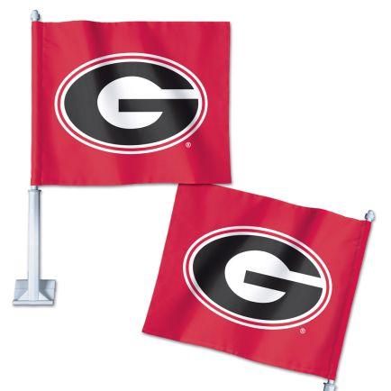 """Georgia Bulldogs Car Flag 11.75"""" x 14"""""""
