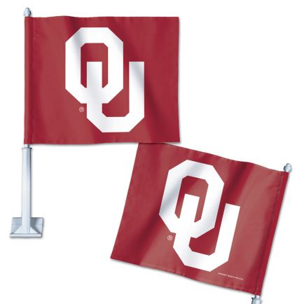 "Oklahoma Sooners Car Flag 11.75"" x 14"""