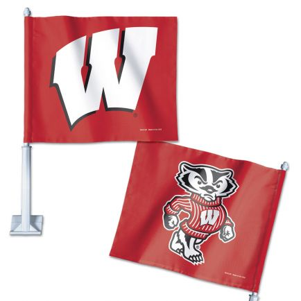 "Wisconsin Badgers Car Flag 11.75"" x 14"""