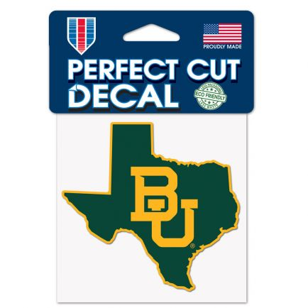 "Baylor Bears Perfect Cut Color Decal 4"" x 4"""