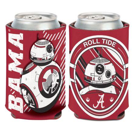 Alabama Crimson Tide / Star Wars BB-8 Can Cooler 12 oz.