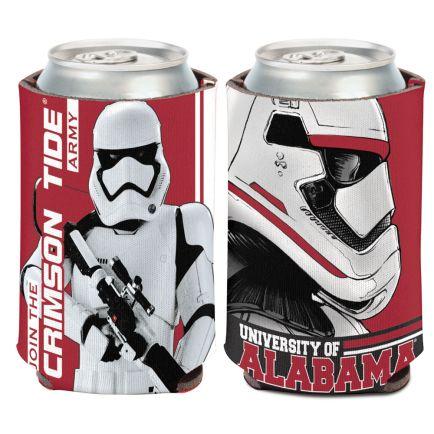 Alabama Crimson Tide / Star Wars Storm Trooper Can Cooler 12 oz.