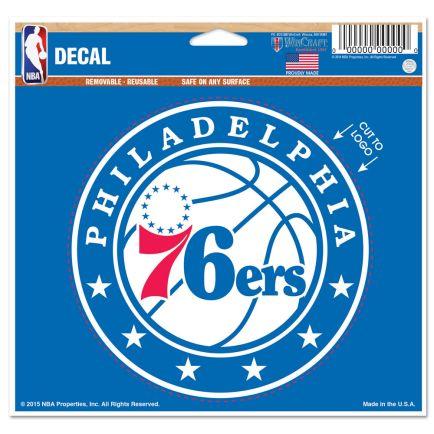 "Philadelphia 76ers Multi-Use Decal - cut to logo 5"" x 6"""