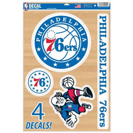 "Philadelphia 76ers Multi-Use Decal 11"" x 17"""