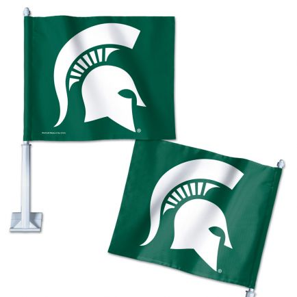 "Michigan State Spartans Car Flag 11.75"" x 14"""