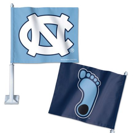 "North Carolina Tar Heels Car Flag 11.75"" x 14"""