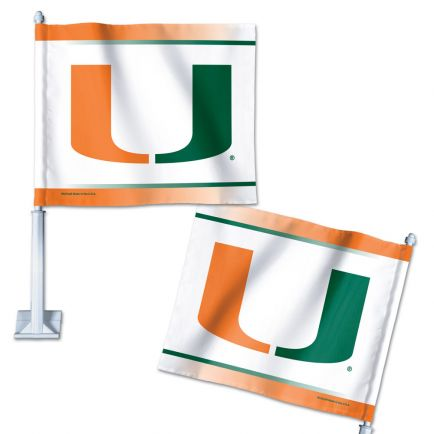 "Miami Hurricanes Car Flag 11.75"" x 14"""