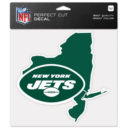 """New York Jets State Shaped Perfect Cut Color Decal 8"""" x 8"""""""