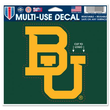 "Baylor Bears Multi-Use Decal - cut to logo 5"" x 6"""