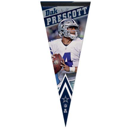 "Dallas Cowboys Premium Pennant 12"" x 30"" Dak Prescott"
