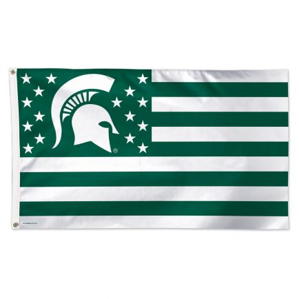 Michigan State Spartans / Stars and Stripes NCAA Flag - Deluxe 3' X 5'
