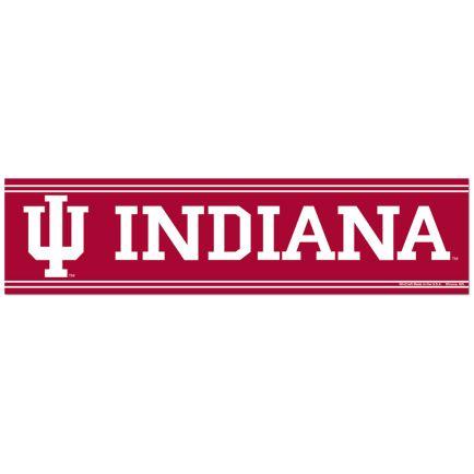 "Indiana Hoosiers Bumper Strip 3"" x 12"""