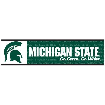 """Michigan State Spartans Bumper Strip 3"""" x 12"""""""