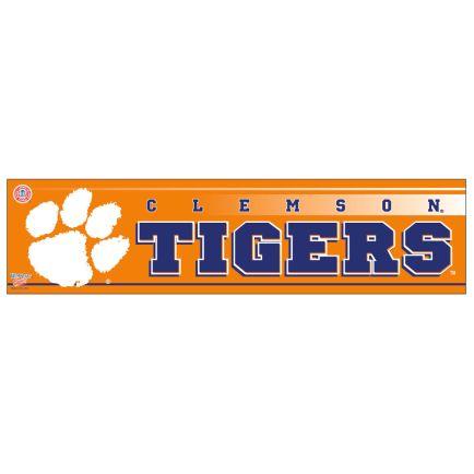 "Clemson Tigers Bumper Strip 3"" x 12"""