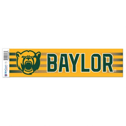 "Baylor Bears Bumper Strip 3"" x 12"""