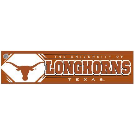 """Texas Longhorns Bumper Strip 3"""" x 12"""""""