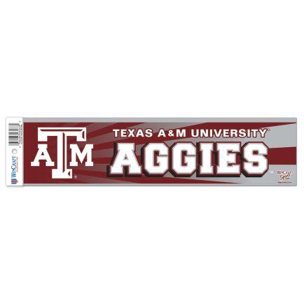 """Texas A&M Aggies Bumper Strip 3"""" x 12"""""""